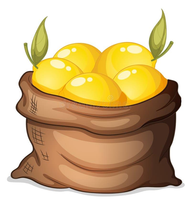 Een zak van citroen vector illustratie