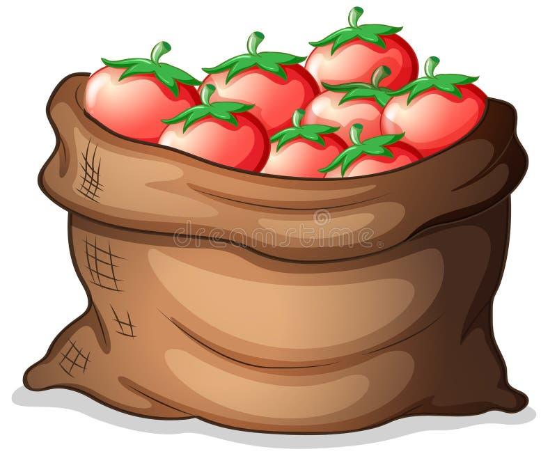 Een zak van tomaten vector illustratie