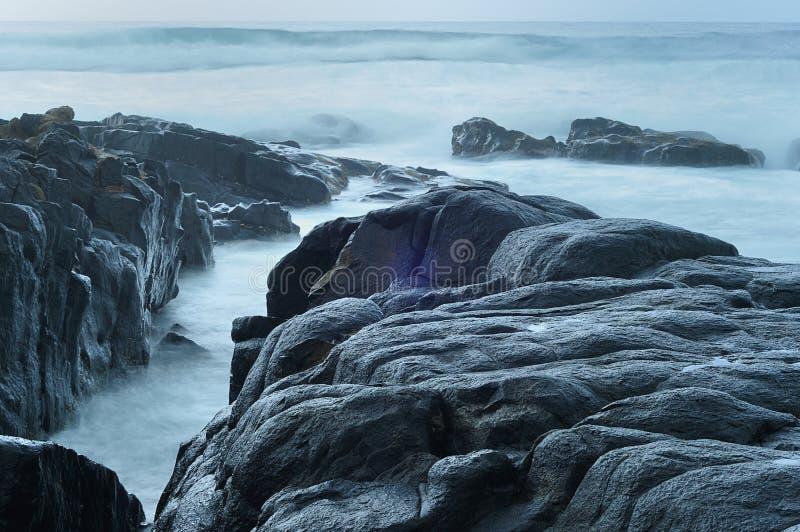 Een zeegezicht in Zuid-Afrika wordt genomen dat royalty-vrije stock afbeelding