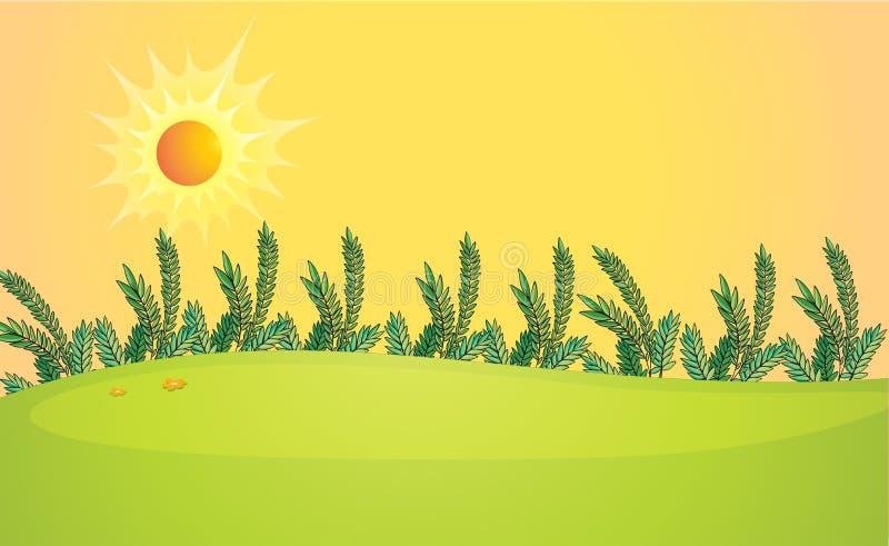Een zeer heldere zon stock illustratie