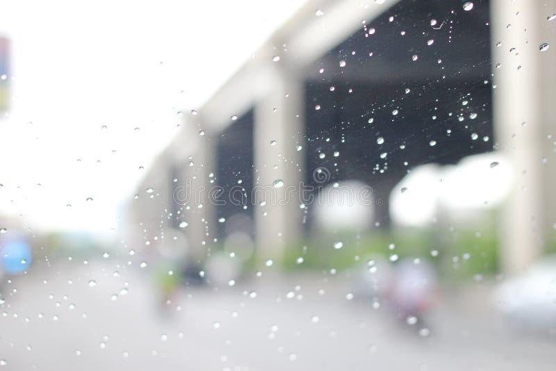 Een zeer zeldzame regenachtige dag in Bangkok, Thailand royalty-vrije stock foto