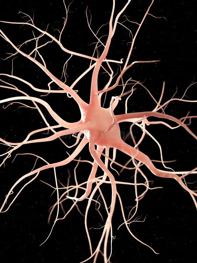 Een zenuwcel stock illustratie