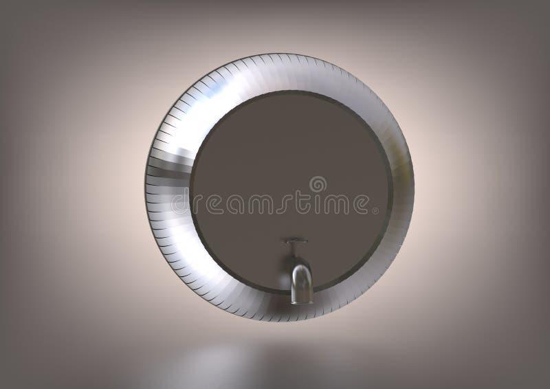 Een zilveren vat op grijs vector illustratie