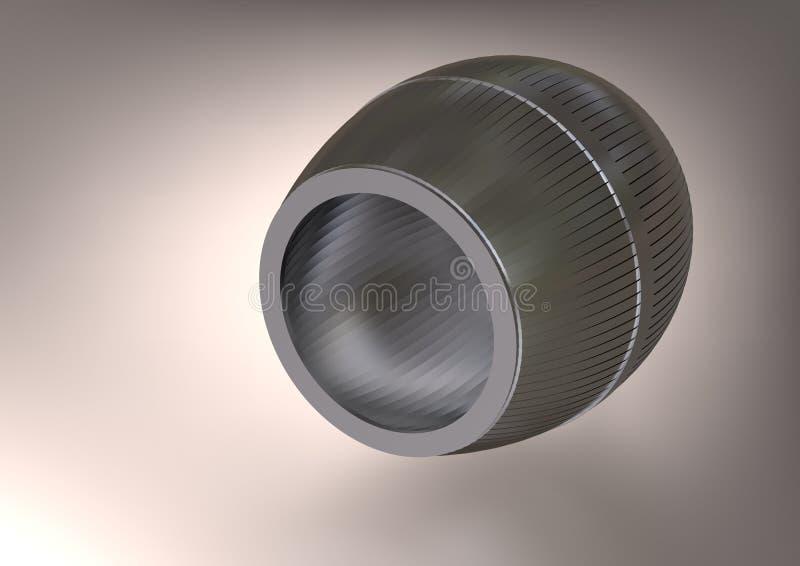 Een zilveren vat op grijs stock illustratie