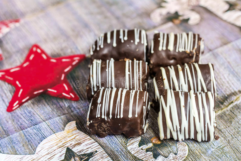 Een zoet suikergoed voor Kerstmis stock afbeeldingen