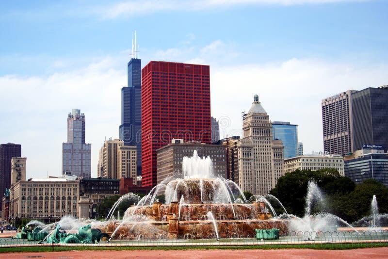 Een zonnige Dag in Chicago stock afbeeldingen