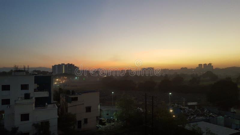Een zonsondergang royalty-vrije stock afbeeldingen