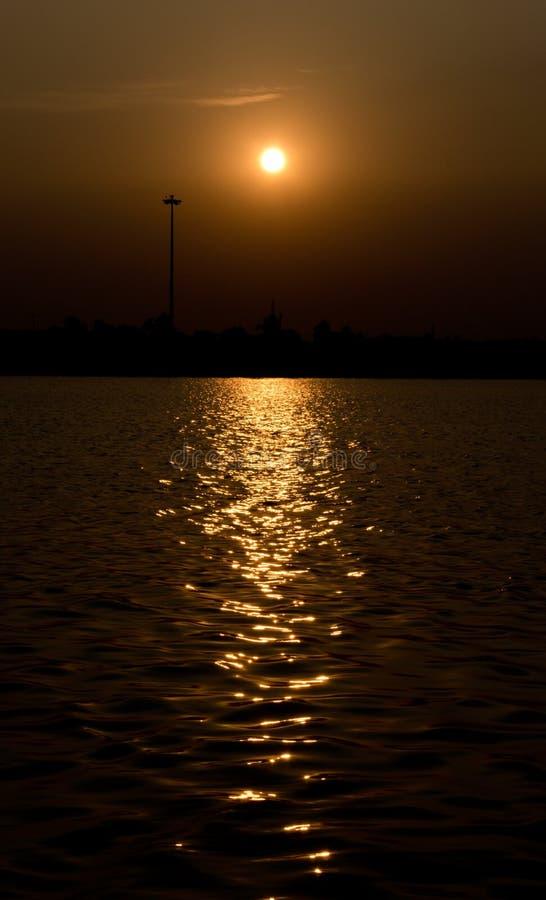 Een zonsondergang stock afbeelding