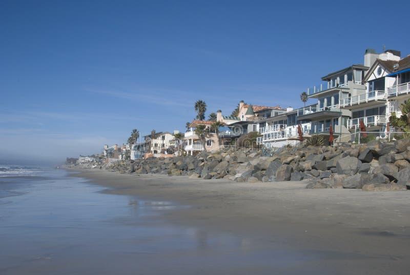 Een zuidelijk strand van Californië stock foto's