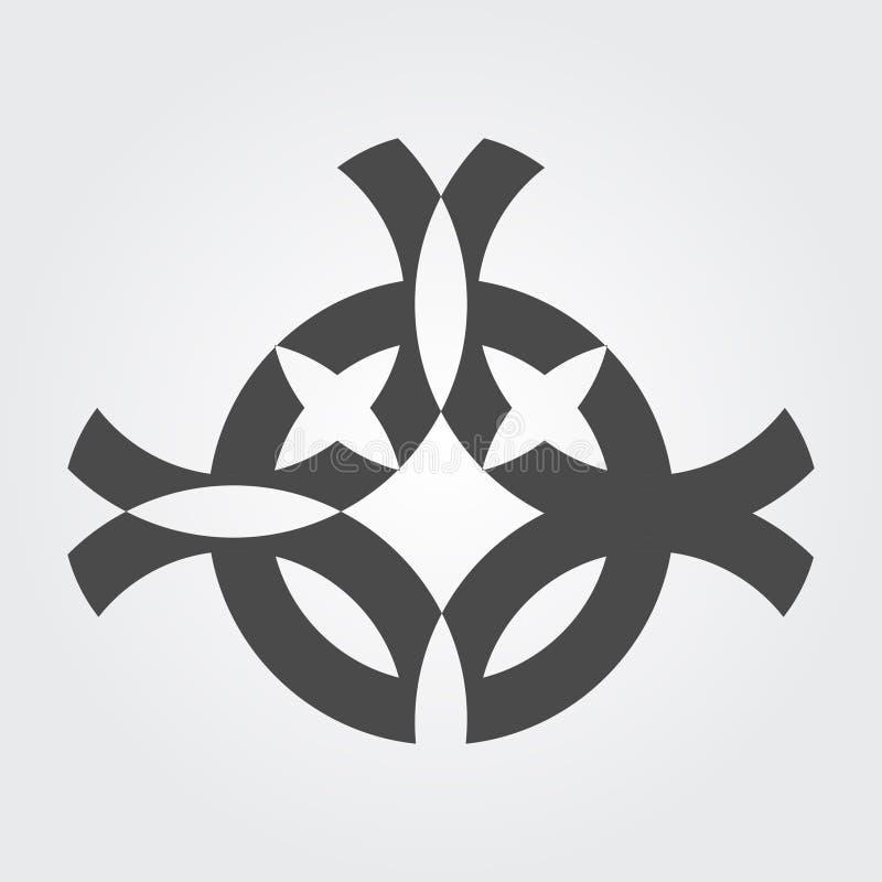Een zwart tegengesteld symbool met witte achtergrond vector illustratie