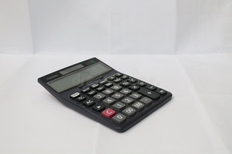 Een zwarte Calculator stock afbeeldingen