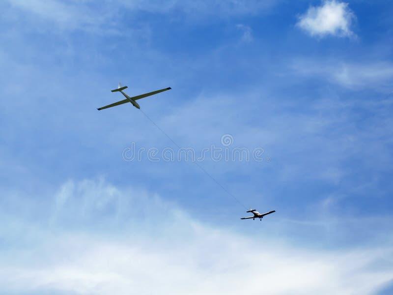 Een zweefvliegtuig stock afbeeldingen