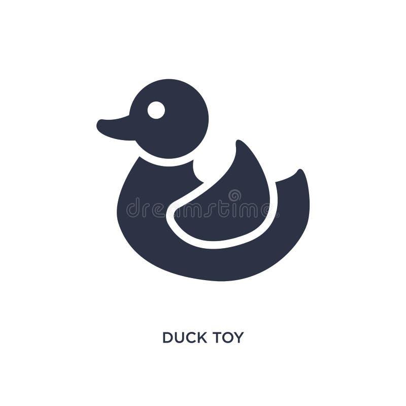 eendstuk speelgoed pictogram op witte achtergrond Eenvoudige elementenillustratie van speelgoedconcept stock illustratie