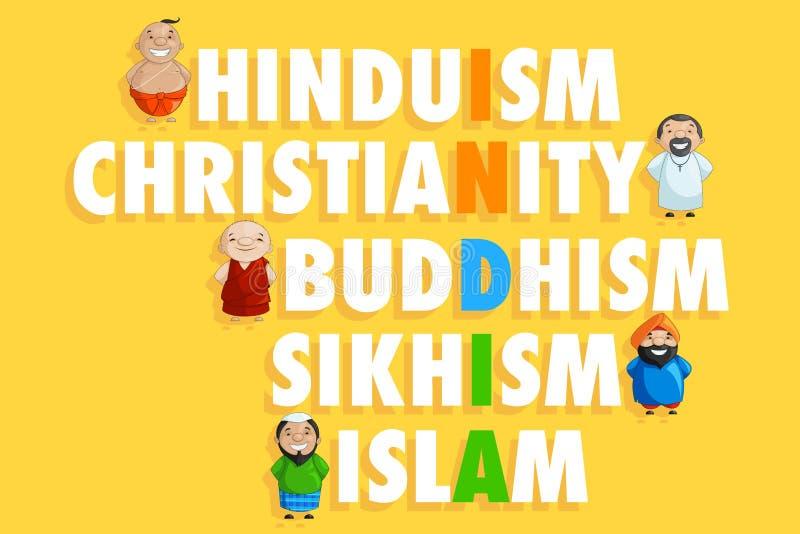 Eenheid in Diversiteit stock illustratie
