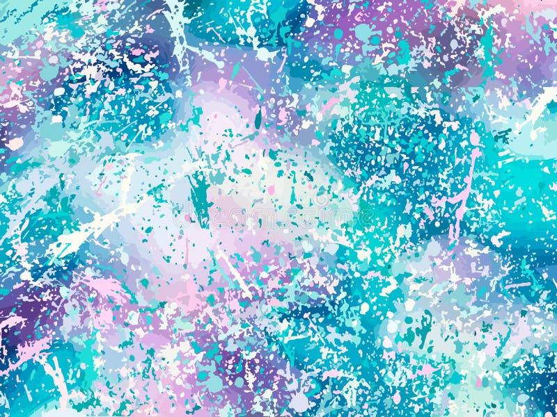 Eenhoornachtergrond met regenboognetwerk De achtergrond van de fantasiegradi?nt met hologram Vectorillustratie voor affiche, broc royalty-vrije illustratie