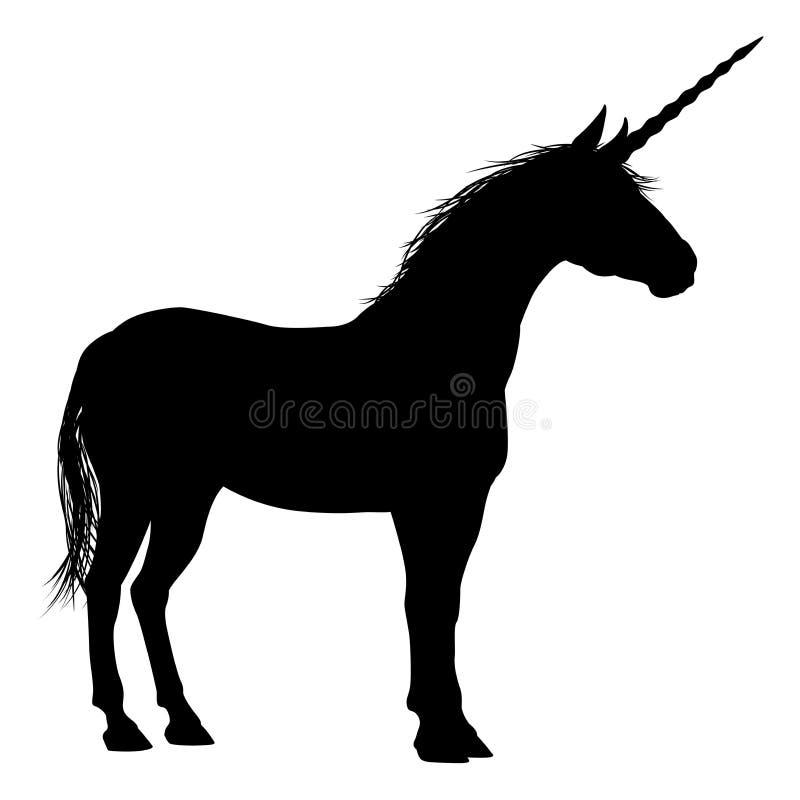 Eenhoornsilhouet royalty-vrije illustratie