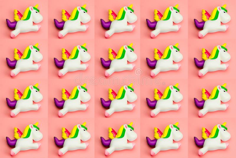 eenhoornstuk speelgoed patroon royalty-vrije stock foto