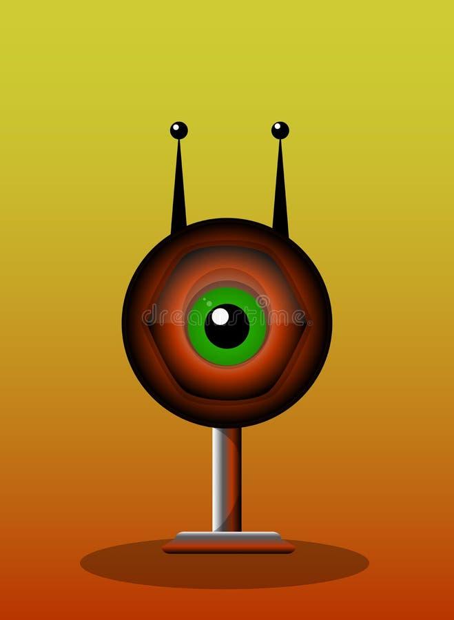 Eenogig Schepsel, illustratie vector illustratie