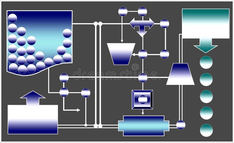 Eenvormig mechanisme vector illustratie