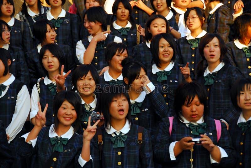 Eenvormige de meisjesschool van Japan royalty-vrije stock fotografie