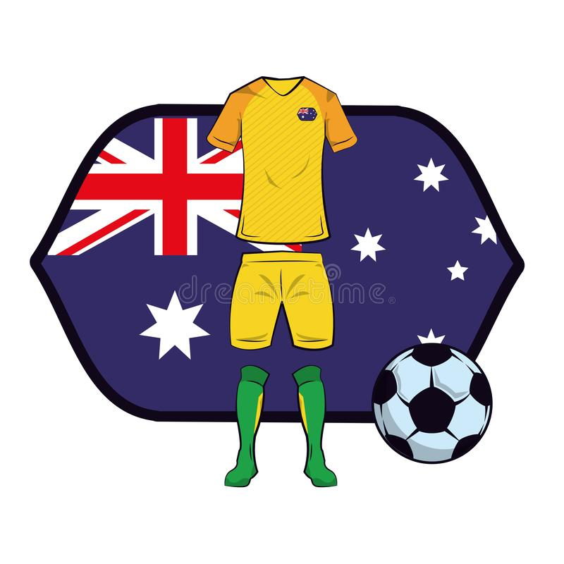 Eenvormige het voetbal van Australië vector illustratie