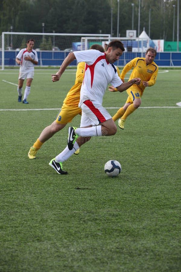 Eenvormige sporten, voetbal, atleten, de kampioen van de wereldvoetbal royalty-vrije stock foto