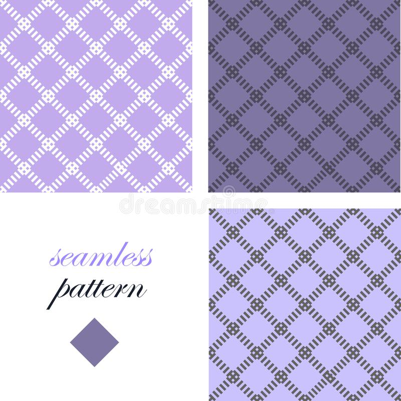 Eenvoudig abstract zwart-wit naadloos patroon met diamanten stock illustratie