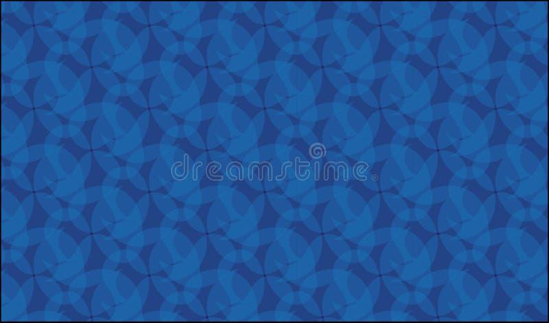Eenvoudig blauw glas en marmeren patroon stock illustratie