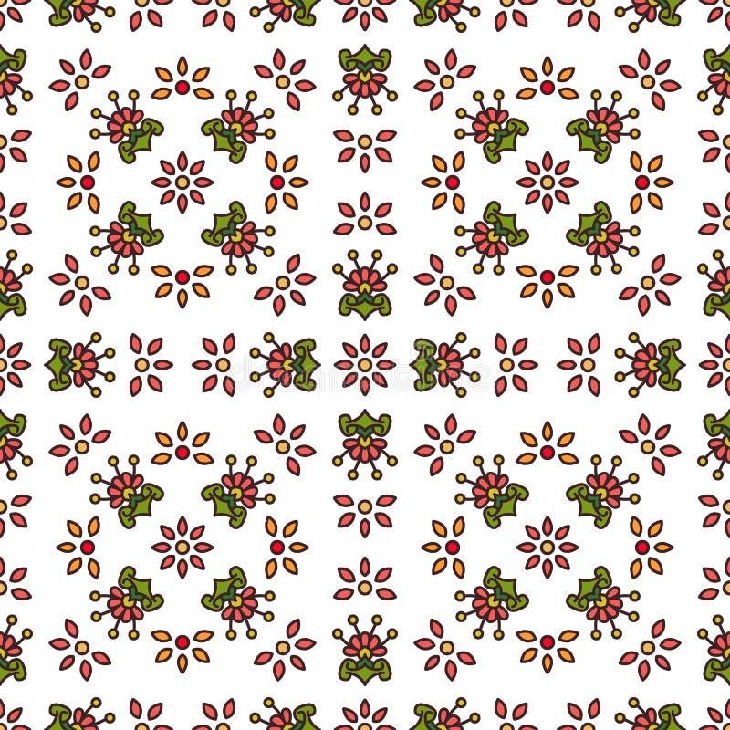 Eenvoudig bloemen naadloos patroon royalty-vrije illustratie