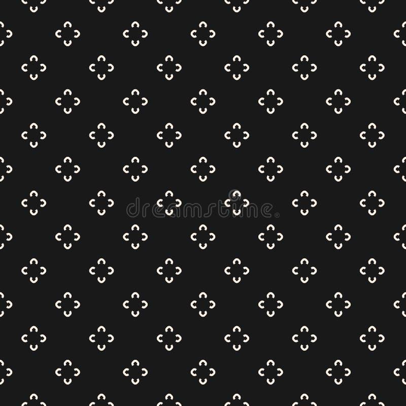 Eenvoudig bloemenpatroon Naadloze textuur met bloem royalty-vrije illustratie