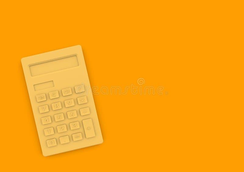 Eenvoudig calculatorconcept in minimalistische stijl voor zaken en a royalty-vrije stock afbeelding