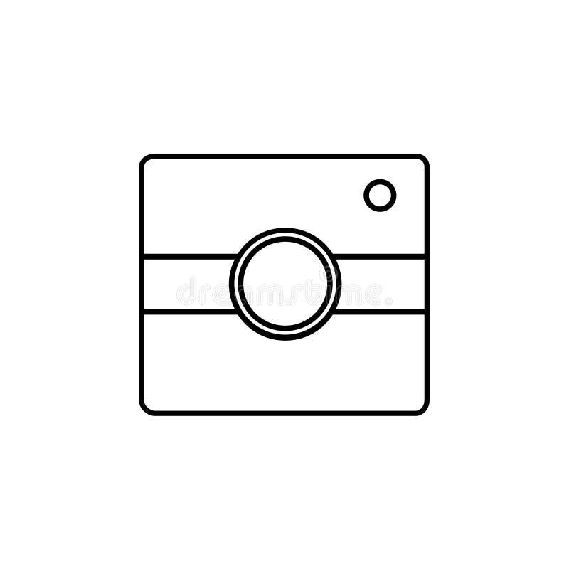 Eenvoudig camerapictogram Instagramteken royalty-vrije illustratie
