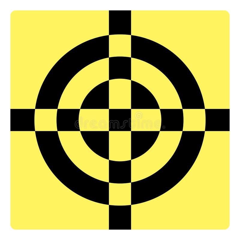 Eenvoudig crosshairsymbool stock illustratie