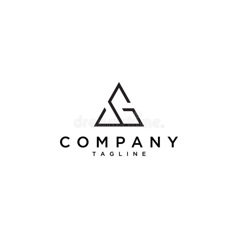 Eenvoudig driehoeksembleem stock illustratie