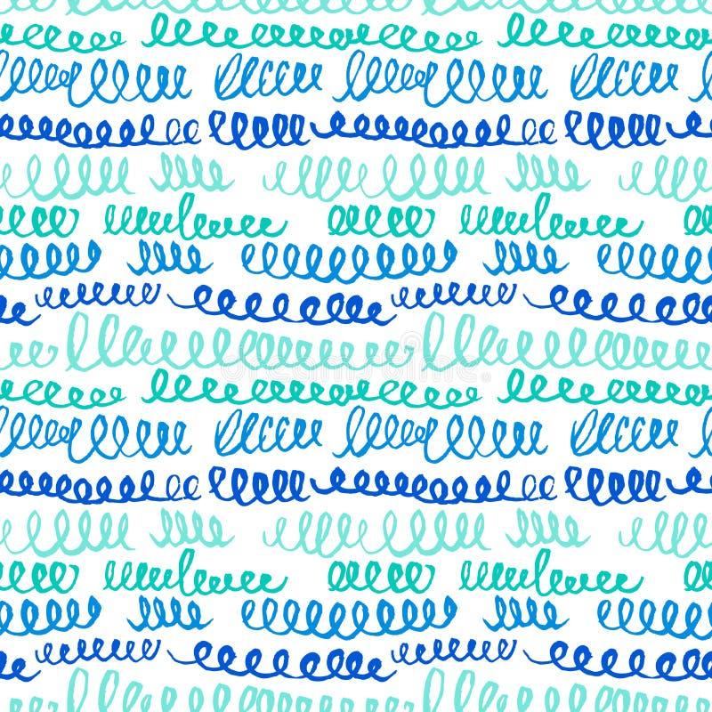 Eenvoudig elemen het hand getrokken artistieke naadloze patroon met samenvatting stock illustratie