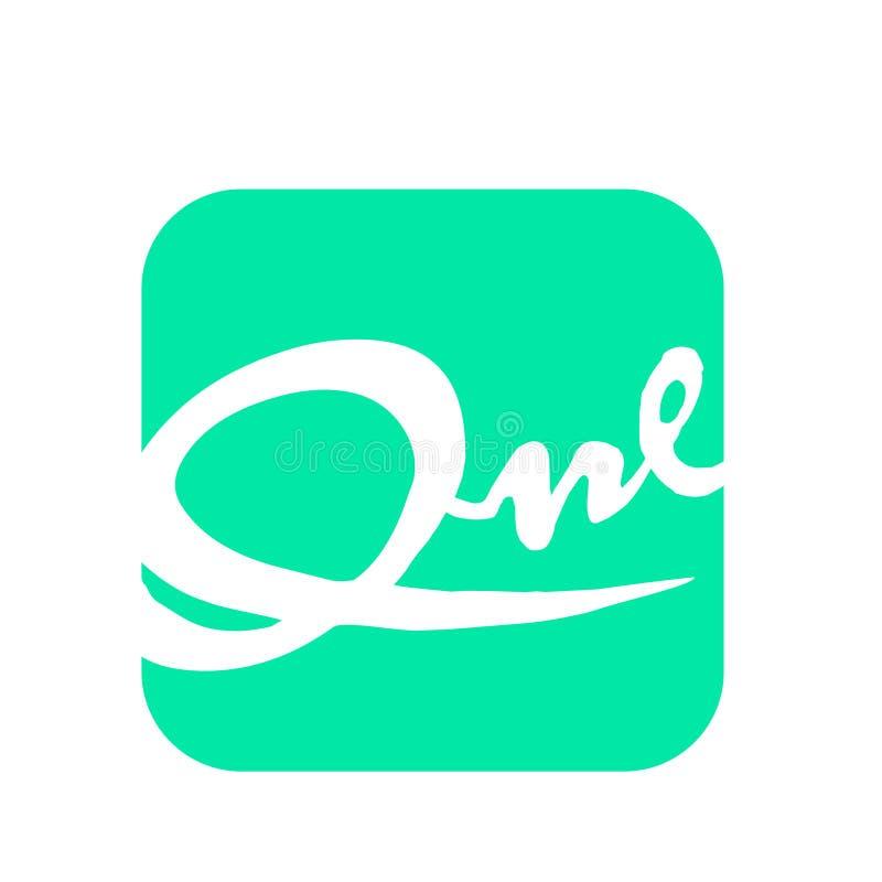 Eenvoudig Embleem met type in de vorm royalty-vrije illustratie