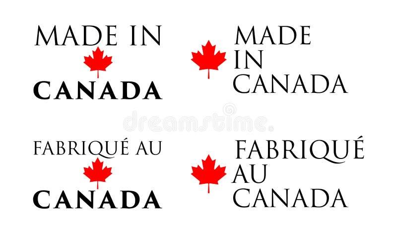 Eenvoudig Gemaakt in Canada/ royalty-vrije illustratie