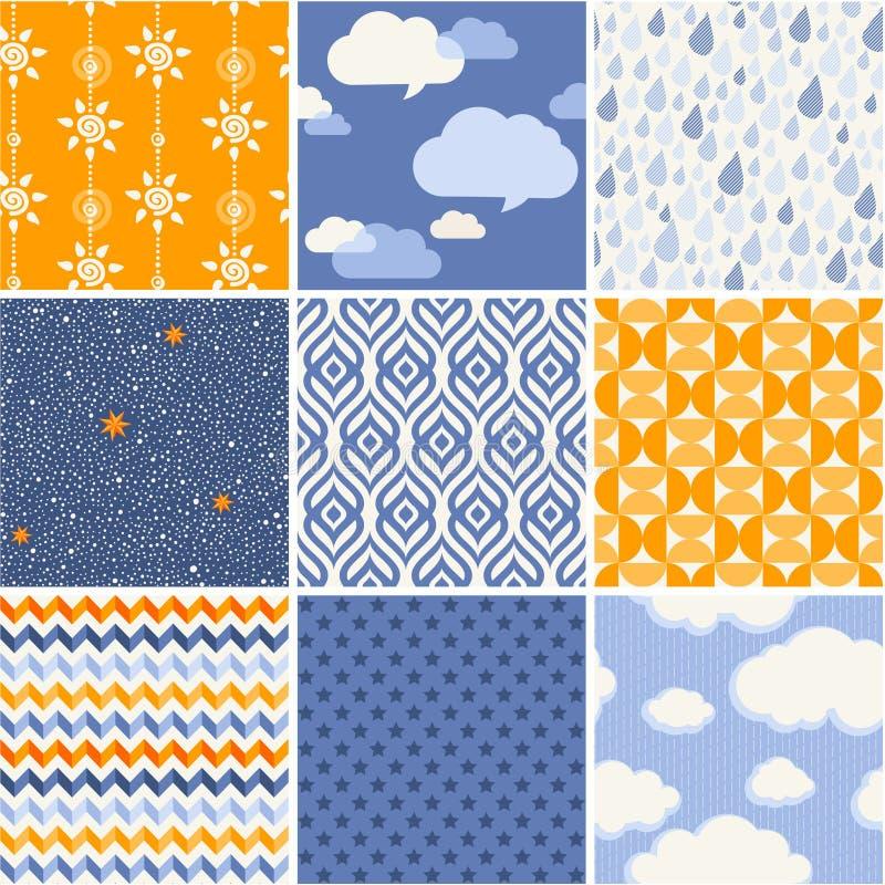 Eenvoudig geplaatst patroon - de samenvatting van de de zomerhemel stock illustratie