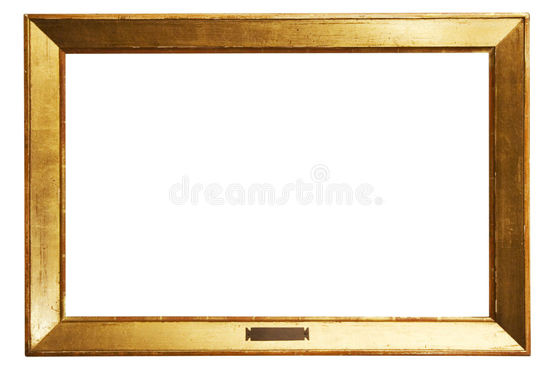 Eenvoudig Gouden Frame met Weg stock fotografie