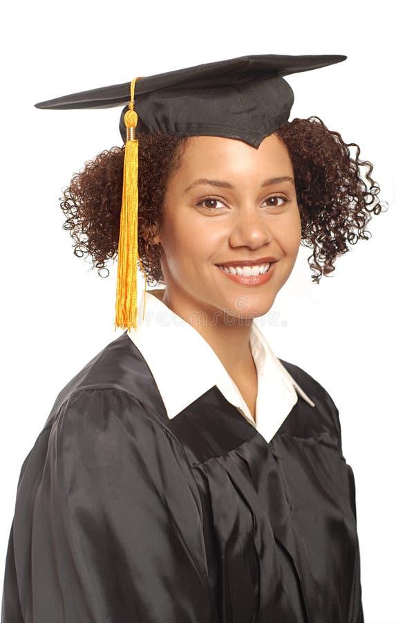 Eenvoudig graduatieportret royalty-vrije stock afbeelding