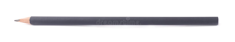 Eenvoudig grijs geïsoleerd potlood royalty-vrije stock afbeelding