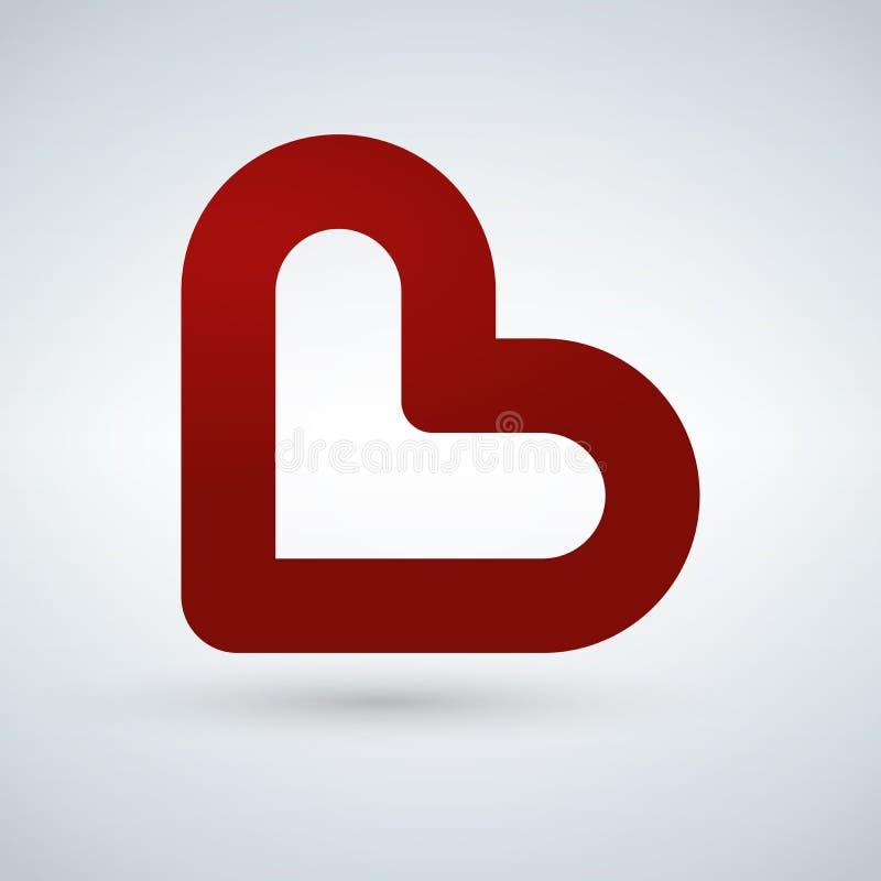Eenvoudig hartpictogram die liefdeemotie vertegenwoordigen pictogram Dit vertegenwoordigt ook Romaanse hartstocht, vriendschap, v royalty-vrije illustratie