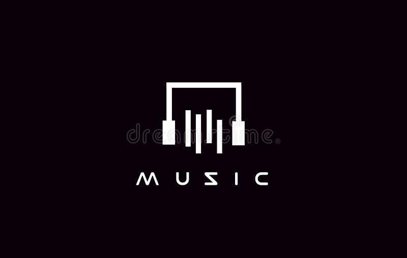 Eenvoudig het pictogramontwerp van het muziekembleem stock illustratie