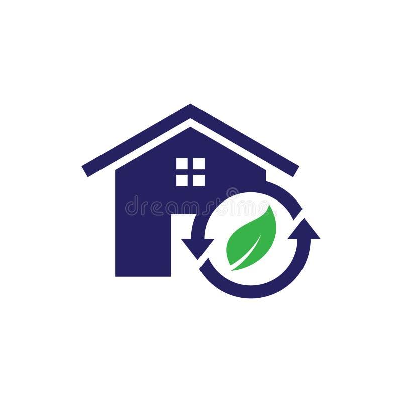 Eenvoudig huisvesting en onroerende goederenpictogram kringloop voor Webpictogram of mobiele APP vector illustratie