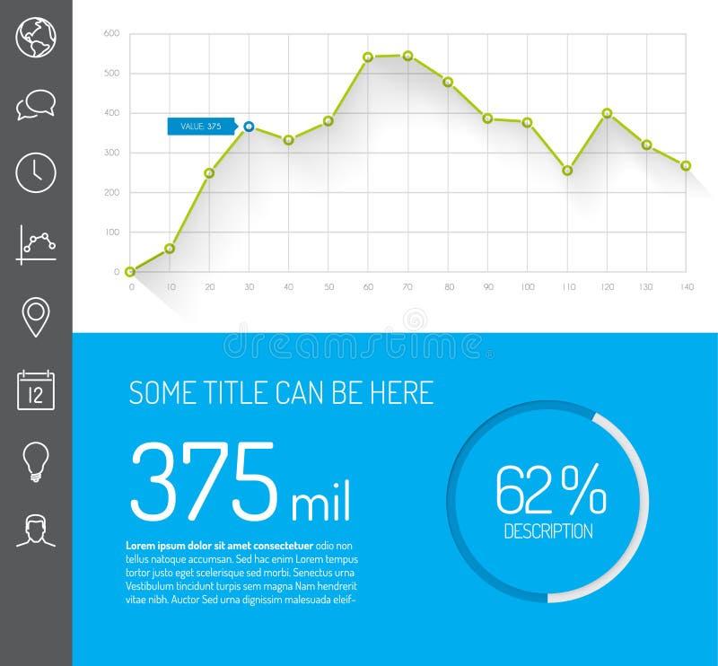 Eenvoudig infographic dashboardmalplaatje vector illustratie
