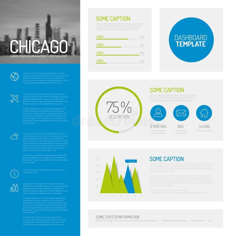 Eenvoudig infographic dashboardmalplaatje royalty-vrije illustratie