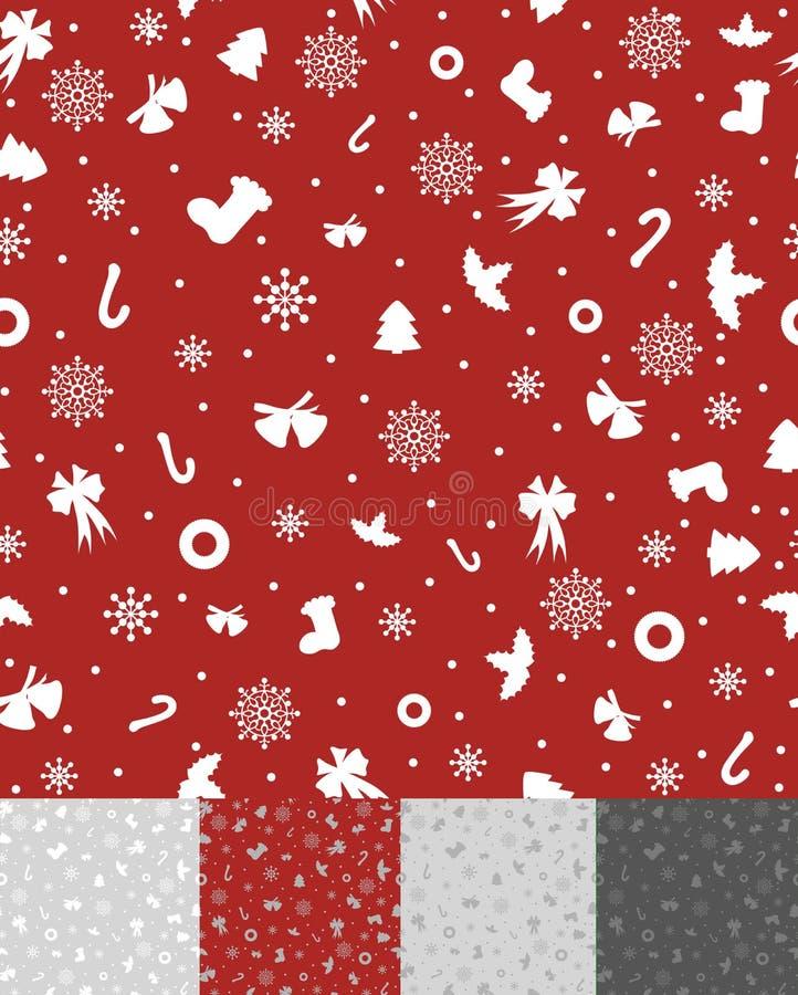 Eenvoudig Kerstmispatroon royalty-vrije stock afbeelding