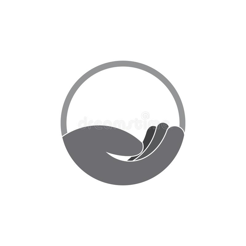 Eenvoudig leg van de het ontwerpzorg van de handgradiënt het symboolvector stock illustratie