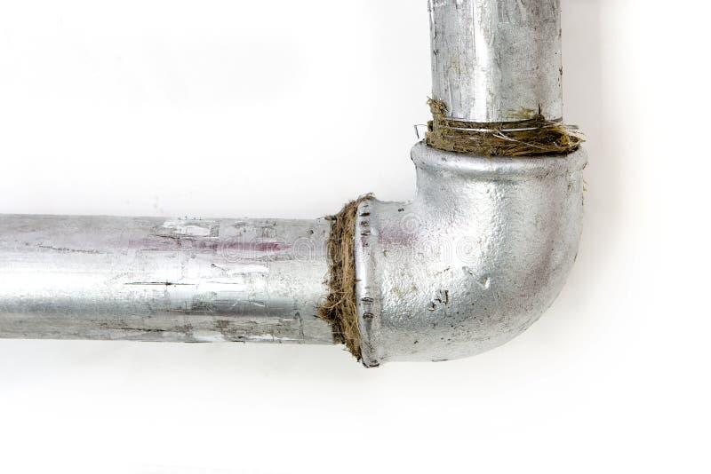 Eenvoudig loodgieterswerk stock foto