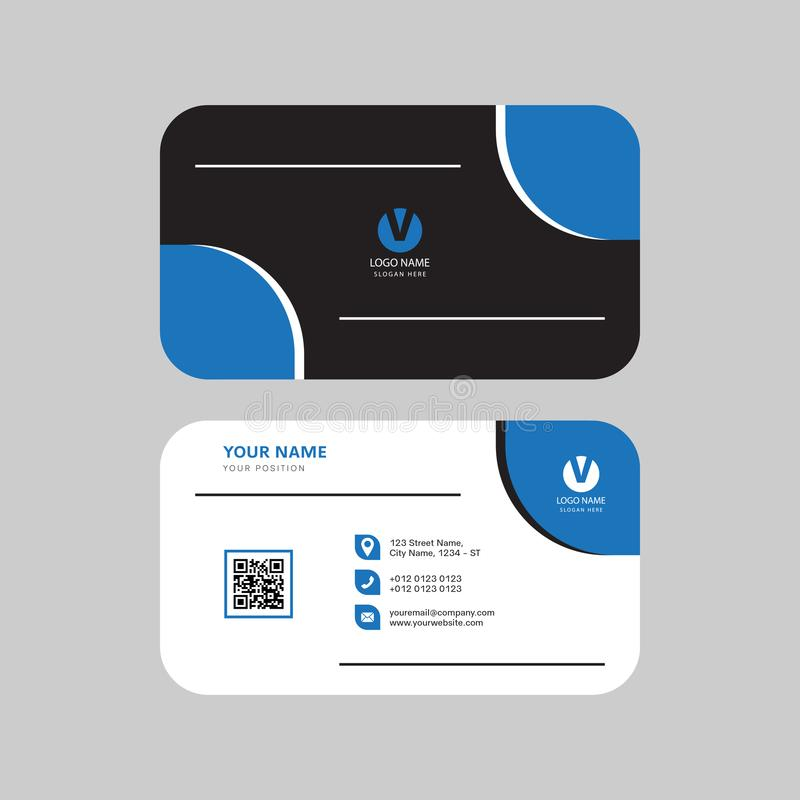 Eenvoudig modern professioneel creatief adreskaartjeontwerp stock illustratie